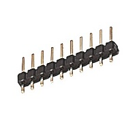 2.54mm Pitch PCB Header Plug 4 Way Pack of 10