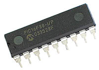 Microchip PIC PIC16F88 MCU 8 Bit 18 Pin DIP Pack of 1