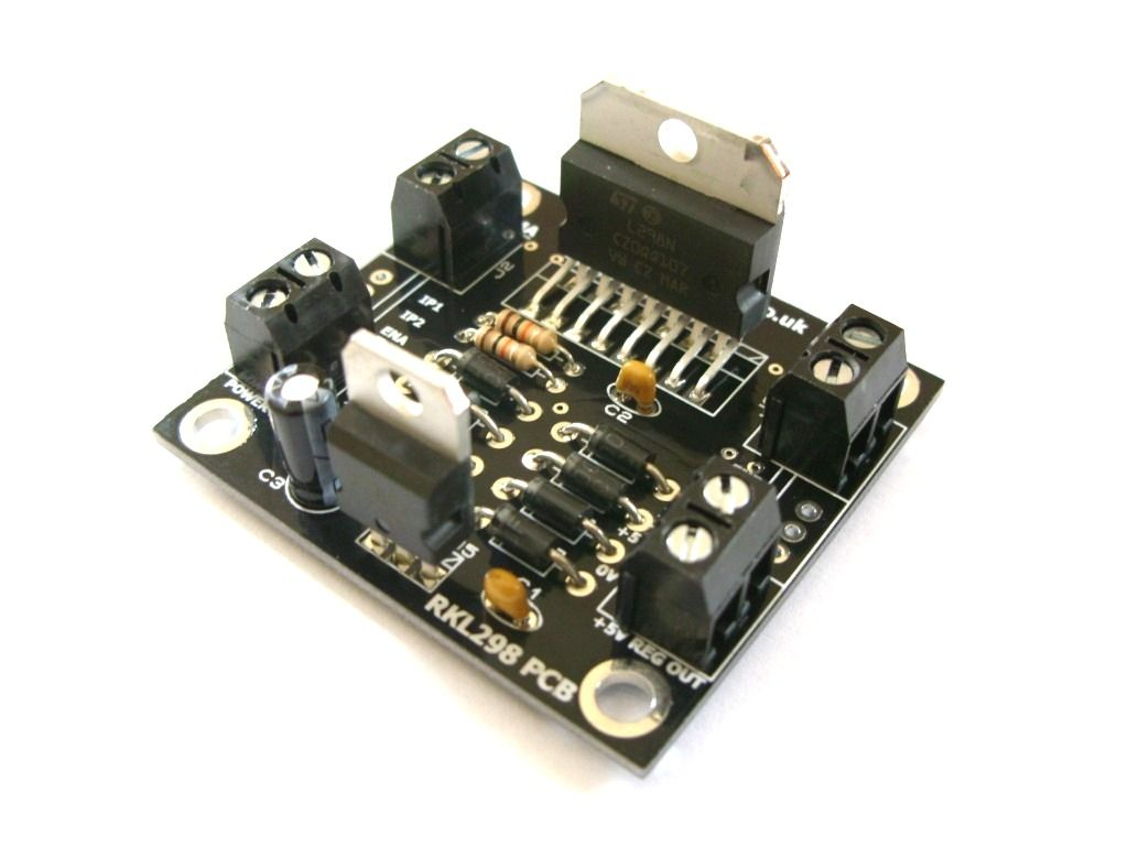 Rkl298 L298 H Bridge Motor Drive Project Pcb Self Build Kit Diagram Together With Circuit Pin On